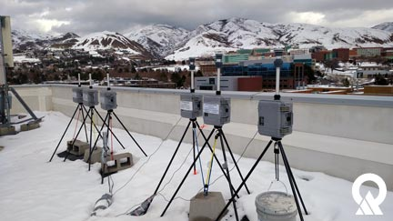 2016 Winter PM2.5 Study equipment on the rooftop at the University of Utah.