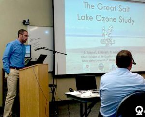 Division of Air Quality scientist Seth Arens describes ongoing research into the contribution of the Great Salt Lake to ozone along the Wasatch Front.