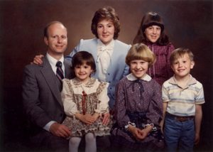 Photo of Division of Drinking wtaer Director Ken Bousfield, his wife, and four young children