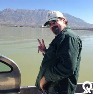 Carl Adams, Watershed Protection Section Manager, helping with the field efforts