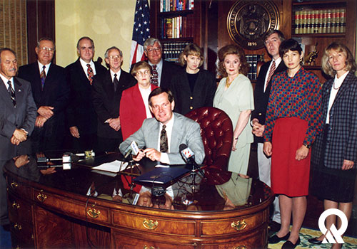 Dianne, far right, with Governor Mike Leavitt