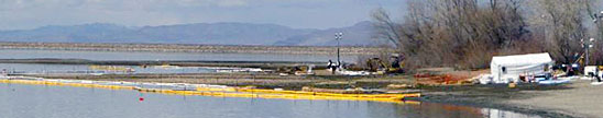 Willard Bay Spill Sampling