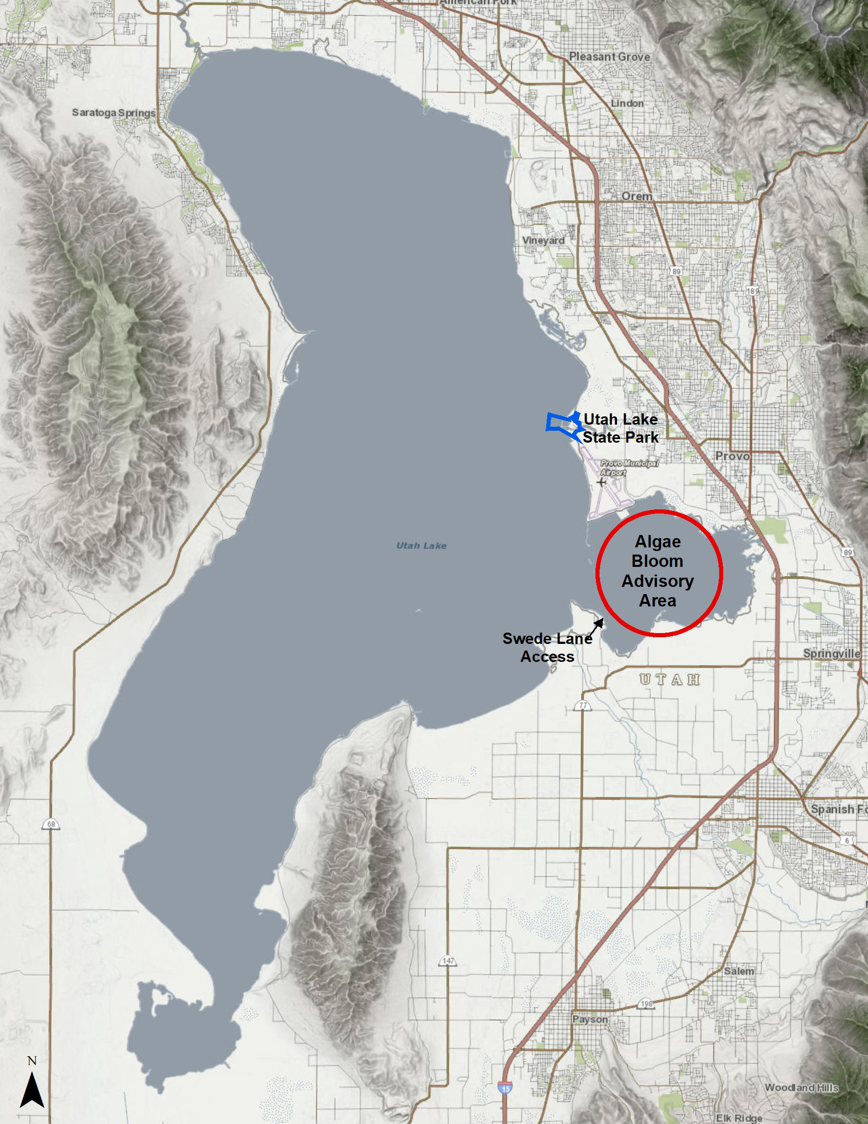 Utah Lake Algal Bloom Monitoring 2018 Utah Department Of