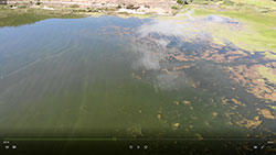 Deer Creek Reservoir, North End of Reservoir (Looking East to West), Drone footage, Week of August 26, 2019.