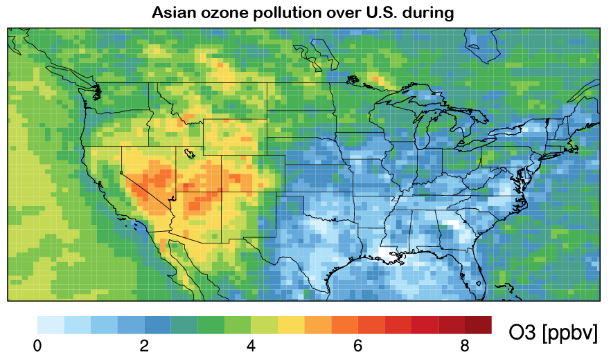 Pollution Over U.S.