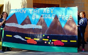Students remind us all to Turn the Key, Be Idle Free