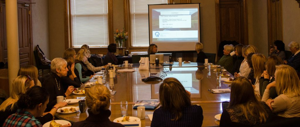 Local women leaders meet to discuss the advantages of alternative fuels and alternative fuel vehicles