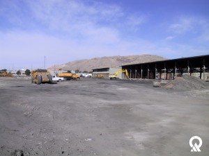 Construction on the Intermodal Hub