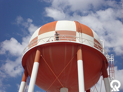 Elevated drinking water tank in West Valley City