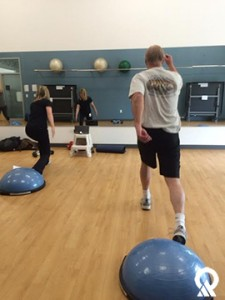 Employees at exercise classes take on the health challenge