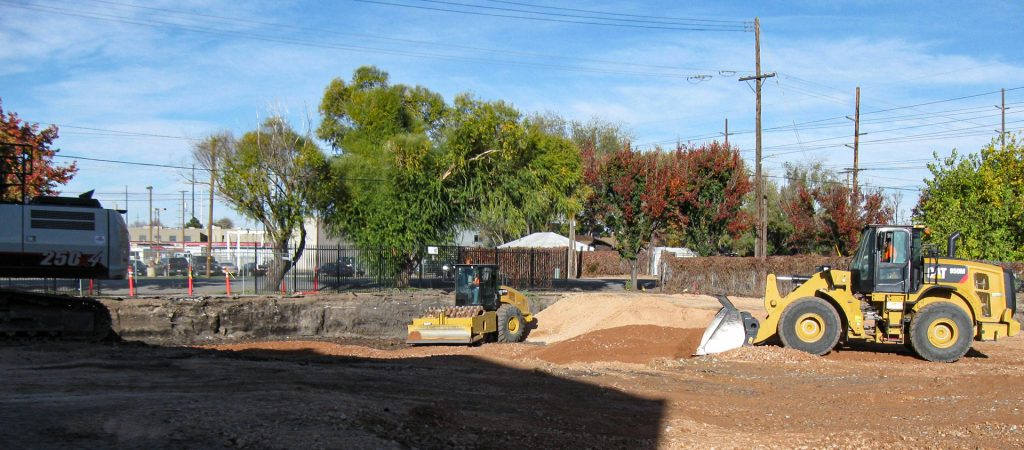 image of tractors woking at Centro Civico in Salt Lake City