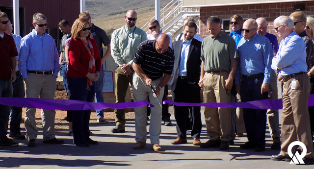DEQ employees were present at the ribbon-cutting for the new Coalville Wastewater Treatment Plant