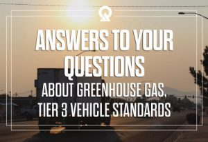 Answers to your questions about greenhouse gas and Tier 3 vehicle standards.
