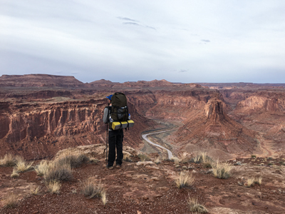 Picture of a hiker in Southern Utah.