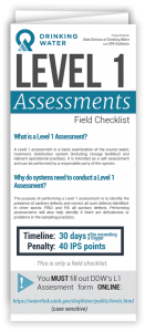 Level 1 Assessments Drinking Water Brochure