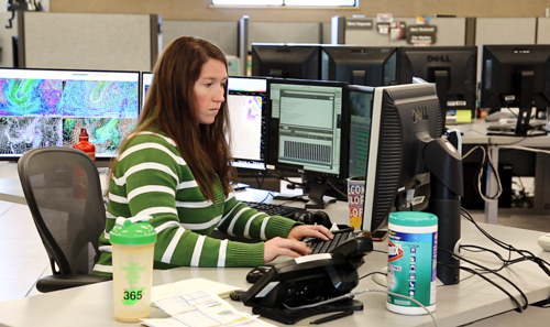 Worker at the salt lake city national weather service