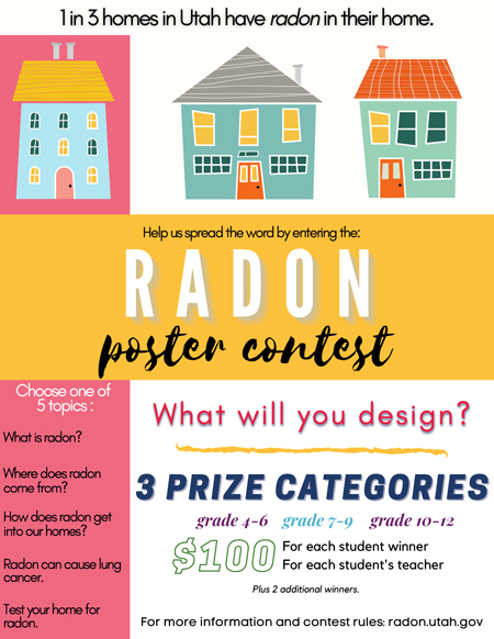 Poster promoting the 2020 National Radon Poster Contest