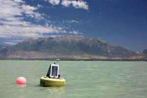 real-time water-quality-logging sondes deployed on Utah Lake