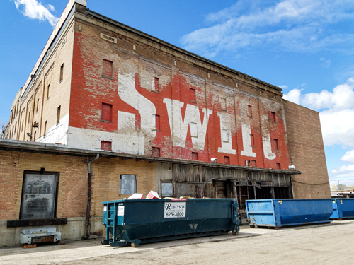 A picture of Ogden's historic Swift Building.