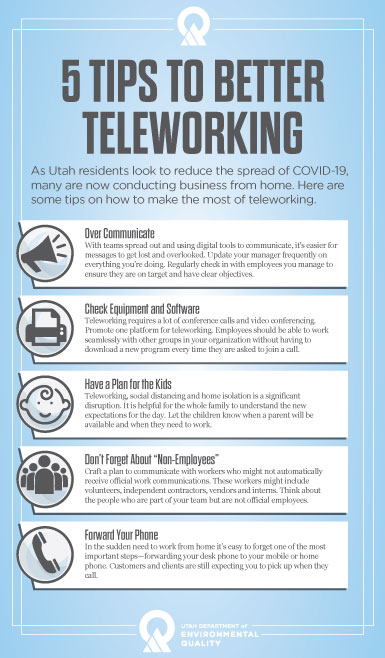Graphic of tips for teleworking