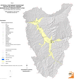 Morgan Valley, Plate 3, Potential Contamination Source Map